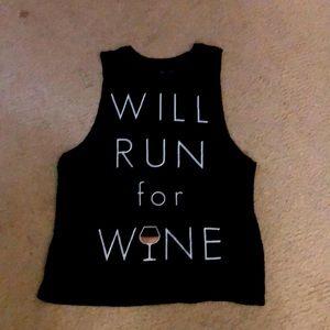 Will Run For Wine Tank